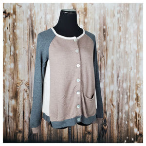 Anthropologie Belgravia Colorblock Cardigan S